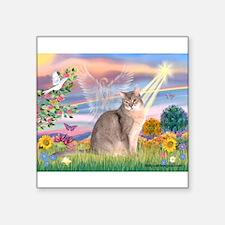 "Cloud Angel & Blue Abby Square Sticker 3"" x 3"""