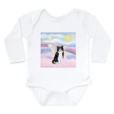Clouds / (B&W) Cat Long Sleeve Infant Bodysuit