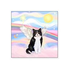 """Clouds / (B&W) Cat Square Sticker 3"""" x 3"""""""