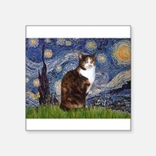 """TILE-Starry-CalicoSH.png Square Sticker 3"""" x 3"""""""
