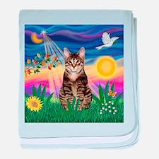 Twilight / Tab Tiger Cat baby blanket