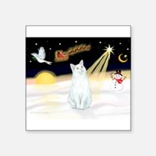 "Unique Cat designs Square Sticker 3"" x 3"""
