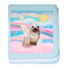 Clouds / Himalayan Cat baby blanket