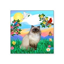 "Bright Life / Himalayan Square Sticker 3"" x 3"