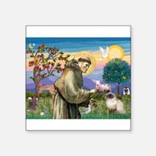 """TILE-StFrancis-HimilayanJF.png Square Sticker 3"""" x"""
