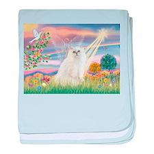 Cloud Angel White Persian baby blanket