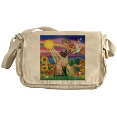 Autumn Sun / Siamese Messenger Bag