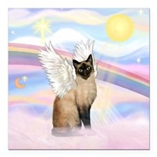 "Clouds / Siamese Square Car Magnet 3"" x 3"""