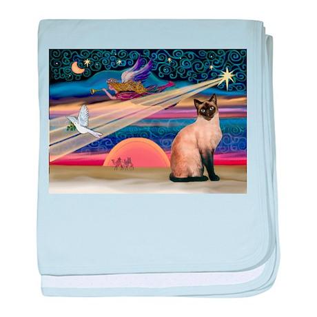 Xmas Star / Siamese baby blanket