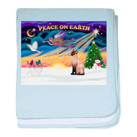 Peace / Siamese Cat baby blanket