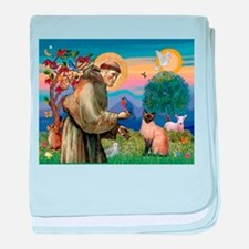 St Francis / Siamese baby blanket