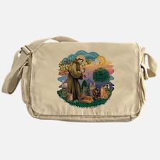 St Francis / 4 Cats Messenger Bag