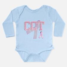 CCT initials, Pink Ribbon, Long Sleeve Infant Body