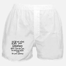 Ask Not Attorney Boxer Shorts