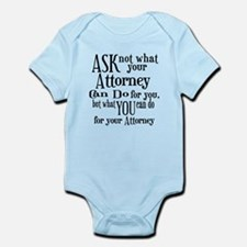 Ask Not Attorney Infant Bodysuit