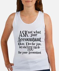 Ask Not Accountant Women's Tank Top