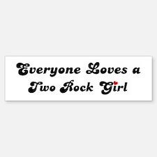 Two Rock girl Bumper Bumper Bumper Sticker