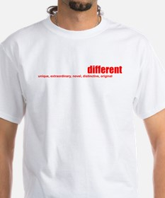 Rather_be_different_wht_png T-Shirt