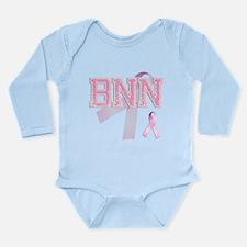BNN initials, Pink Ribbon, Long Sleeve Infant Body