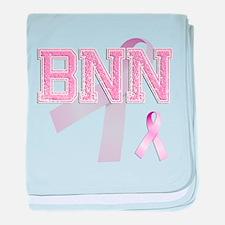 BNN initials, Pink Ribbon, baby blanket
