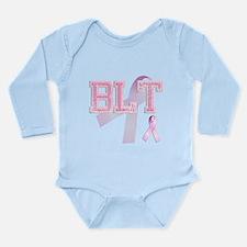 BLT initials, Pink Ribbon, Long Sleeve Infant Body