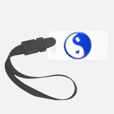 Blue Yin Yang Luggage Tag