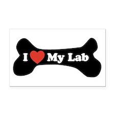 I Love My Lab - Dog Bone Rectangle Car Magnet