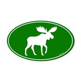 Moose Oval Car Magnets
