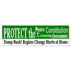 Protect...Dump Bush Bumper Bumper Sticker
