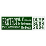 Protect...Dump Bush Bumper Sticker