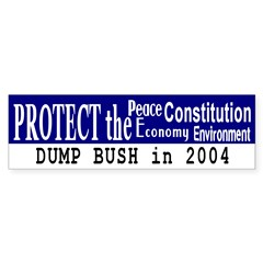 Protect the...Dump Bush Bumper Bumper Sticker