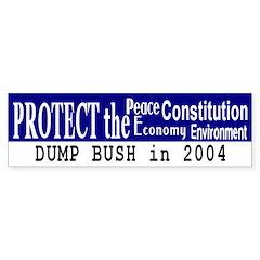 Protect the...Dump Bush Bumper Bumper Sticker