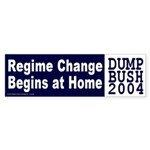 Regime Change Begins at Home Sticker