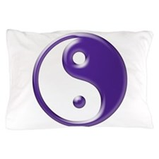 Purple Yin Yang Pillow Case