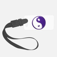 Purple Yin Yang Luggage Tag