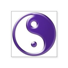 "Purple Yin Yang Square Sticker 3"" x 3"""