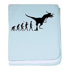 Eaten By Dinosaur baby blanket