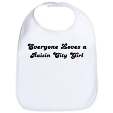 Raisin City girl Bib