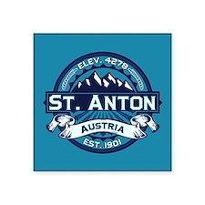 "St. Anton Ice Square Sticker 3"" x 3"""