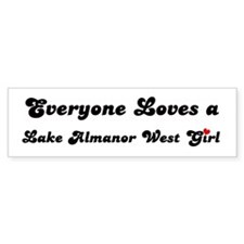 Lake Almanor West girl Bumper Bumper Sticker