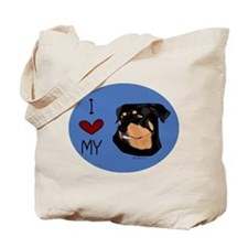 Fun I love my Rottweiler Tote Bag