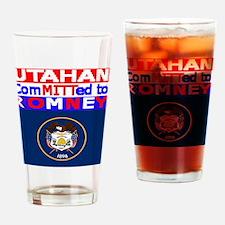 utahnromneyflag.png Drinking Glass