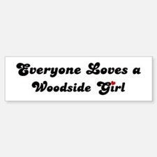 Woodside girl Bumper Bumper Bumper Sticker