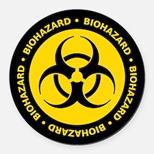 Yellow Biohazard Warning Car Magnet