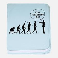 Stop Following Me! baby blanket