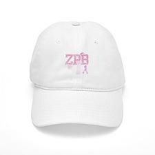 ZPB initials, Pink Ribbon, Baseball Cap