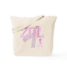ZOL initials, Pink Ribbon, Tote Bag
