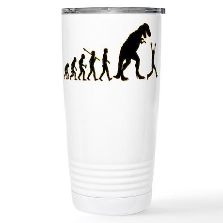 Run From Dinosaur Stainless Steel Travel Mug