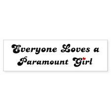 Paramount girl Bumper Bumper Sticker