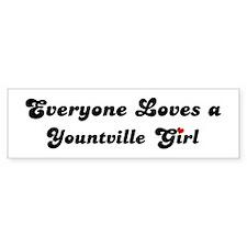 Yountville girl Bumper Bumper Sticker